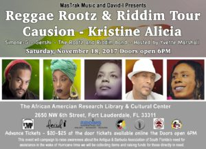 Reggae Rootz & Riddim Tour @ The African American Research Library & Cultural Center | Fort Lauderdale | Florida | United States