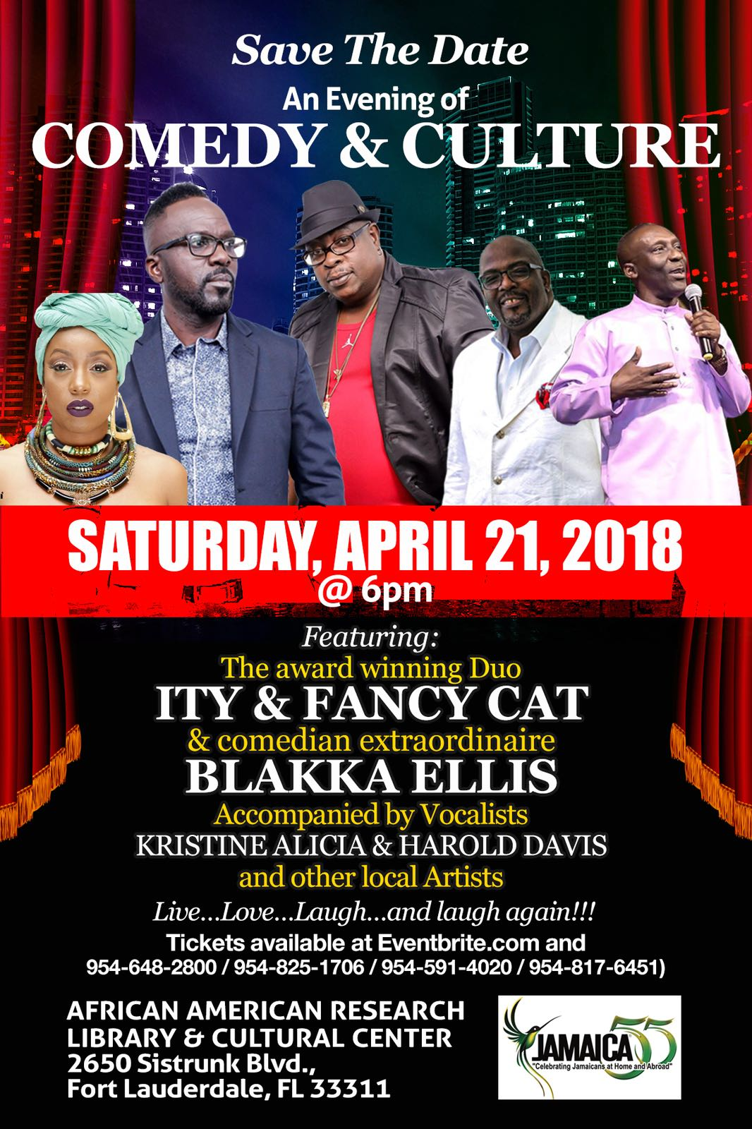 Comedy & Culture @ African American Research Library & Cultural Center | Fort Lauderdale | Florida | United States